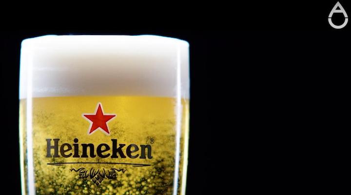 glass of heineken beer