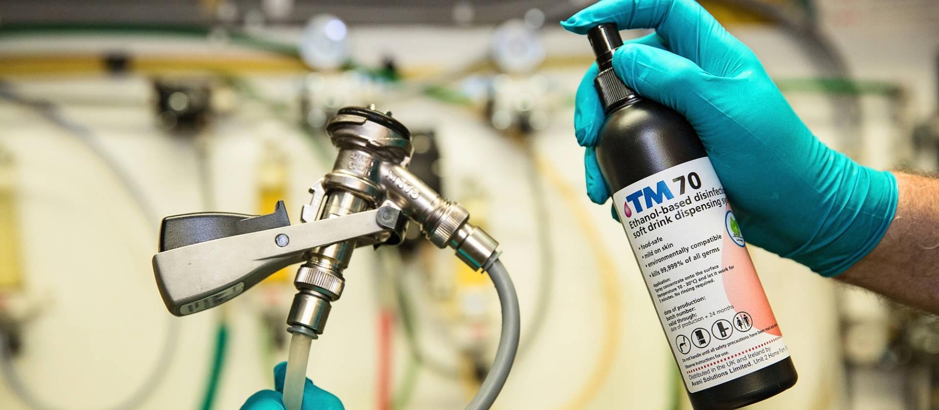 TM70 Sanitising spray