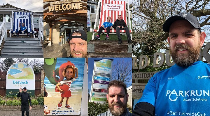 park runners fundraising montage